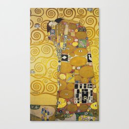 The Embrace - Gustav Klimt Canvas Print