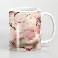 cherry blossom Mugs featuring Cherry Blossom by Erin Johnson