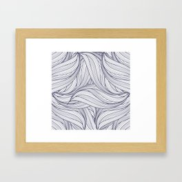 abstract pattern of thin lines Framed Art Print