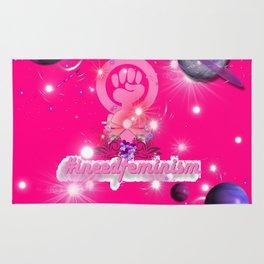 #IneedFeminism - Pink Galaxy Rug