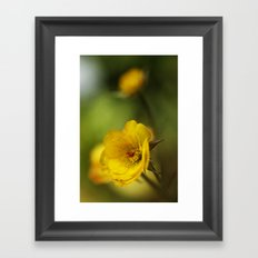 yellow. Framed Art Print