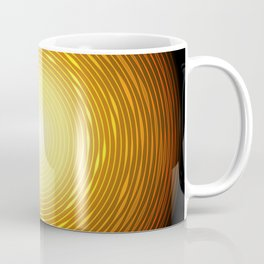 Abstract golden circle with glow light effect. Coffee Mug