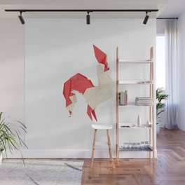 Origami Rooster Wall Mural