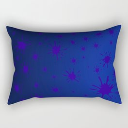 blue spots on blue background Rectangular Pillow