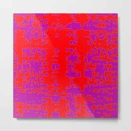 jitter, red violet, 3 Metal Print