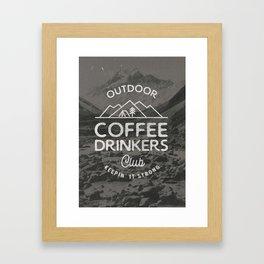 Outdoor Coffee Drinkers Club Framed Art Print
