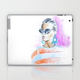 Watercolor girl Laptop & iPad Skin