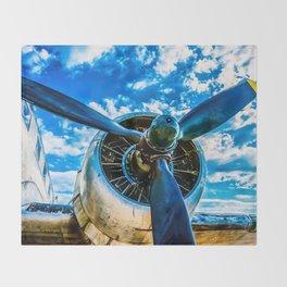 Aviation forever Throw Blanket