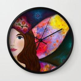Night Fairy Wall Clock