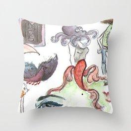 Les animaux Throw Pillow