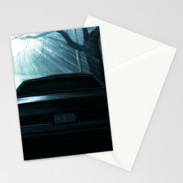 CAR AT DRAMATIC STREET DURING NIGHT Stationery Cards