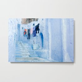 Laundry Day in Chefchaouen, Morocco Metal Print
