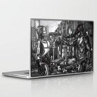 robocop Laptop & iPad Skins featuring Robocop 1987 v 2014 by Jamie Briggs