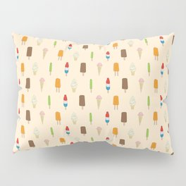 Ice Cream Pattern, Popsicles, Bomb Pops, Cones Pillow Sham