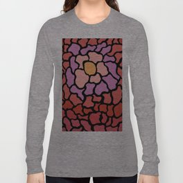 abstract shades of red and pink Long Sleeve T-shirt