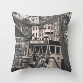 Harbor Le Havre France Throw Pillow