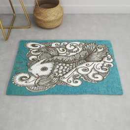 Sharpie Fish Rug