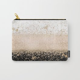 Elegant rose gold confetti marble design Carry-All Pouch