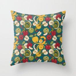 Apples, autumn harvest Throw Pillow