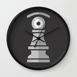 pawn's eye b&w Wall Clock