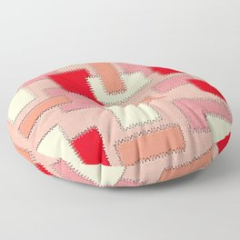 Peach Patches Floor Pillow