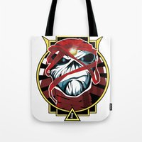 iron maiden Tote Bags featuring Tribute Iron Maiden by JHC Studio