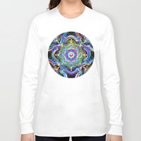 psychedelic art Long Sleeve T-shirts featuring Mandala Psychedelic Art Design by BluedarkArt