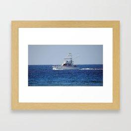 Charter Fishing Boat Framed Art Print