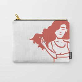 Smoking Girl Carry-All Pouch