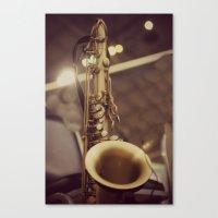 saxophone Canvas Prints featuring Saxophone by KimberosePhotography