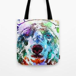 Polar Bear Watercolor Grunge Tote Bag