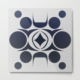 Future Abstract Alien Symbol Metal Print