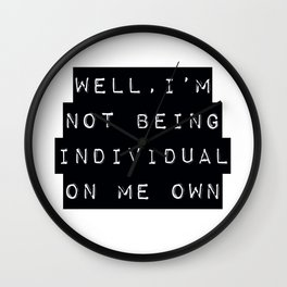 Derry Girls Quote Wall Clock