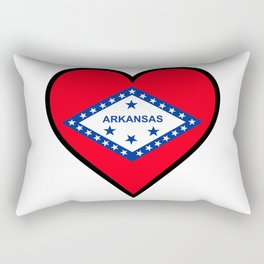 Love Arkansas Rectangular Pillow