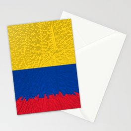 Extruded flag of Columbia Stationery Cards