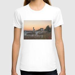 Autumn Lighthouse at sunset T-shirt