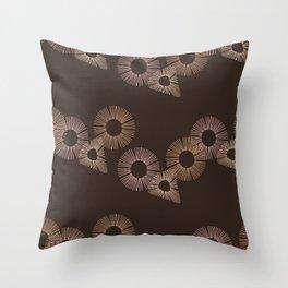 Brown Circle of Life Throw Pillow