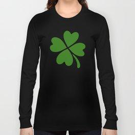 Lucky Four Leaf Clover Pattern Long Sleeve T-shirt