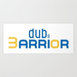 Golden State Warrior Curry design  Art Print