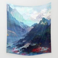 tchmo Wall Tapestries featuring Untitled 20130913a (Landscape) by tchmo