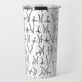 BUTTS Butts butts Black White Travel Mug