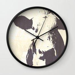Rustic Cow Wall Clock