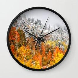 Fall to Winter Wall Clock