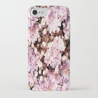 rose gold iPhone & iPod Cases featuring Rose And Gold Floral by J&C Creations