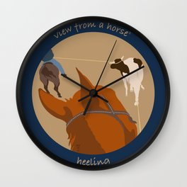 view from a horse HEELING Wall Clock