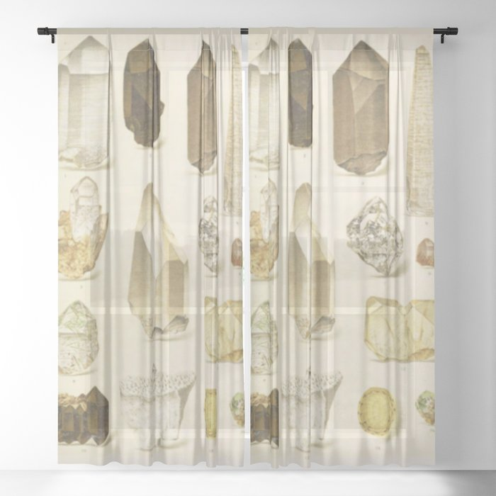 Quartz Crystals Sheer Curtain