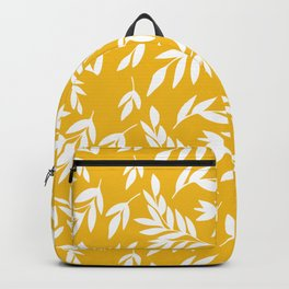 Flowers on honey yellow Backpack