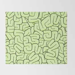Zombie Brains in Lime Large Throw Blanket