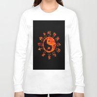 yin yang Long Sleeve T-shirts featuring Yin yang. by DesignAstur