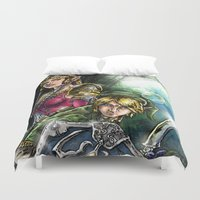 the legend of zelda Duvet Covers featuring The Legend of Zelda by MarioRojas